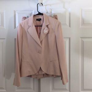 H&M pale pink suit